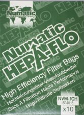 Numatic Hepa-Flo Filter Bags Vacuum Cleaner Bag NVM-1CH Pack